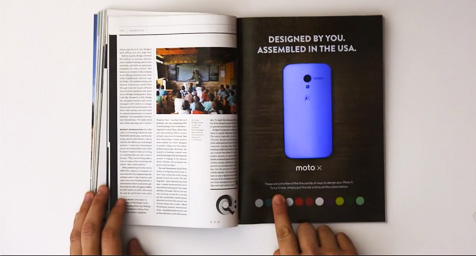 New Motorola Ad Colors Our Perception of Print Advertising