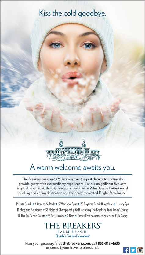 MDG Advertising Extends a Warm Welcome in New Winter Campaign for The Breakers Palm Beach