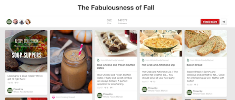 Pinterest Whole Foods Seasonal Boards