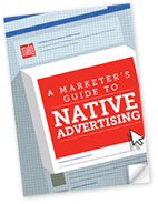 "New E-book: ""A Marketer's Guide to Native Advertising"""