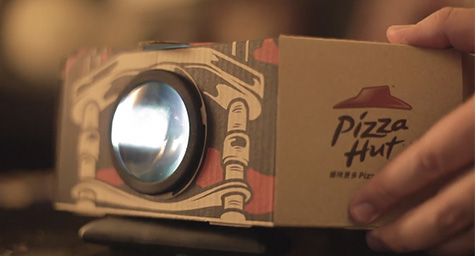Pizza Hut Box Becomes a Movie Projector