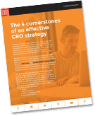 "New E-book: ""The 4 Cornerstones of an Effective CRO Strategy"""