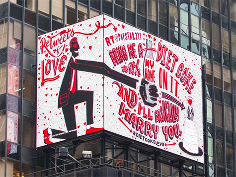 Diet Coke Shares Real Love by Retweeting Fans' Real Love Notes