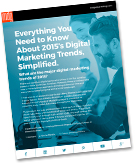 "New E-book: ""Everything You Need to Know About 2015's Digital Marketing Trends, Simplified"""