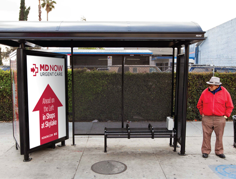 Bus shelter marketing