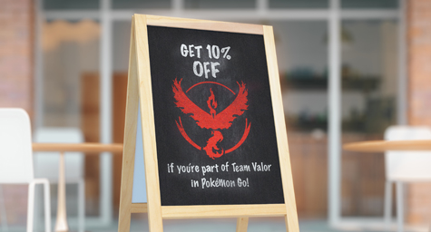pokémon Go-Storefront Sign