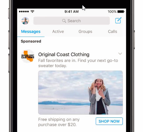 Facebook Advertising Reaches New Audiences with Messenger Ads