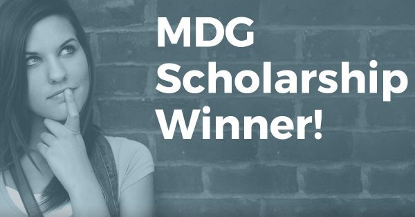 "Meet the Winner of MDG's Third Annual ""Looking Beyond College"" Scholarship Essay Contest"